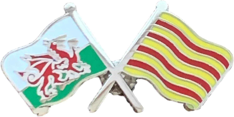 España Cataluña y país de Gales Dragón De Gales Amistad Insignia Bandera: Amazon.es: Hogar