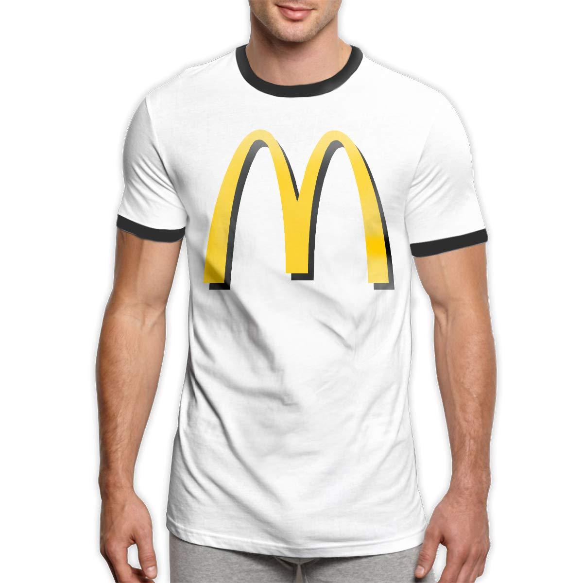Men's Youth Boys McDonalds Logo T Shirt T-Shirt Summer Short-Sleeve Round Neck Shirts Cotton Sport Tops S