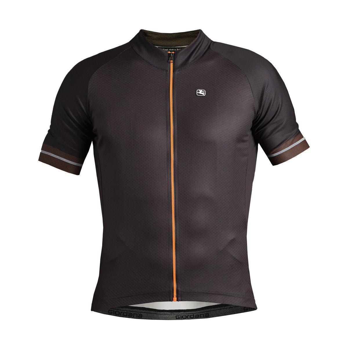 Giordana Lungo Jersey – Men 's B077F5W8LN Large|ブラック/オレンジ ブラック/オレンジ Large