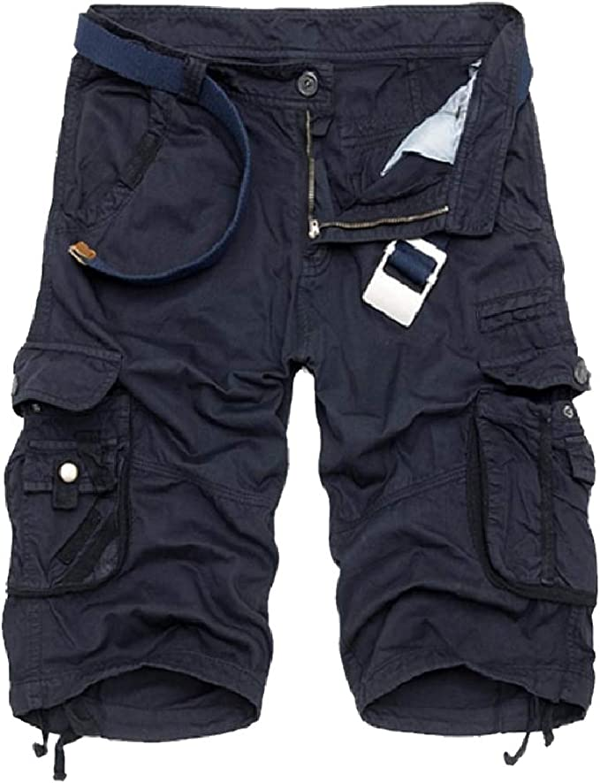Candiyer Mens Baggy Oversized Wild Cargo Pants Straight-Fit Cargo Short