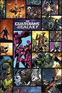 Pyramid America Guardians of The Galaxy Comic Book Character Collage Cool Wall Decor Art Print Poster 24x36