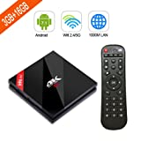H96 Pro Plus Neuste Android 7.1 Smart TV Box mit Amlogic S912 Octa-Core 64 Bits CPU,3GB RAM+16GB ROM TV Box mit Dual WiFi 2.4GHz/5GHz und 1000M LAN und H.265 4K Ultra HD