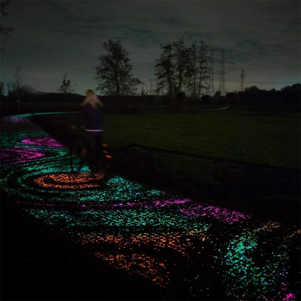 Pebbles Luminous Steinen,Pebble Stone nachtleuchtende Steine Leuchtsteine Leuchtkiesel leuchtende Kiesel Aquarium Garten Deko f/ür die Dekoration von Gehwege Fisch Tank Garten
