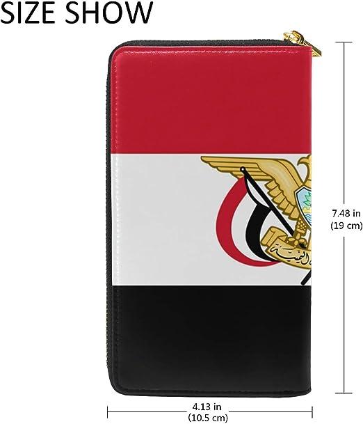 Slim Minimalist Leather Wallets For Women Men Yemen Flag