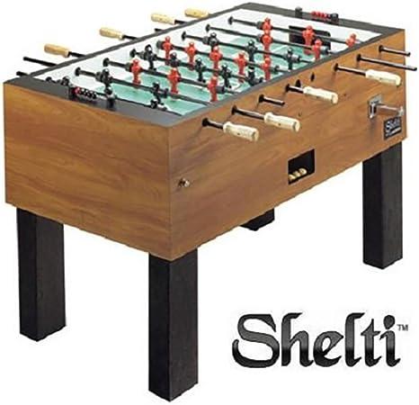 Shelti Pro Foos III Coin-op comerciales mesa de futbolín: Amazon.es: Deportes y aire libre