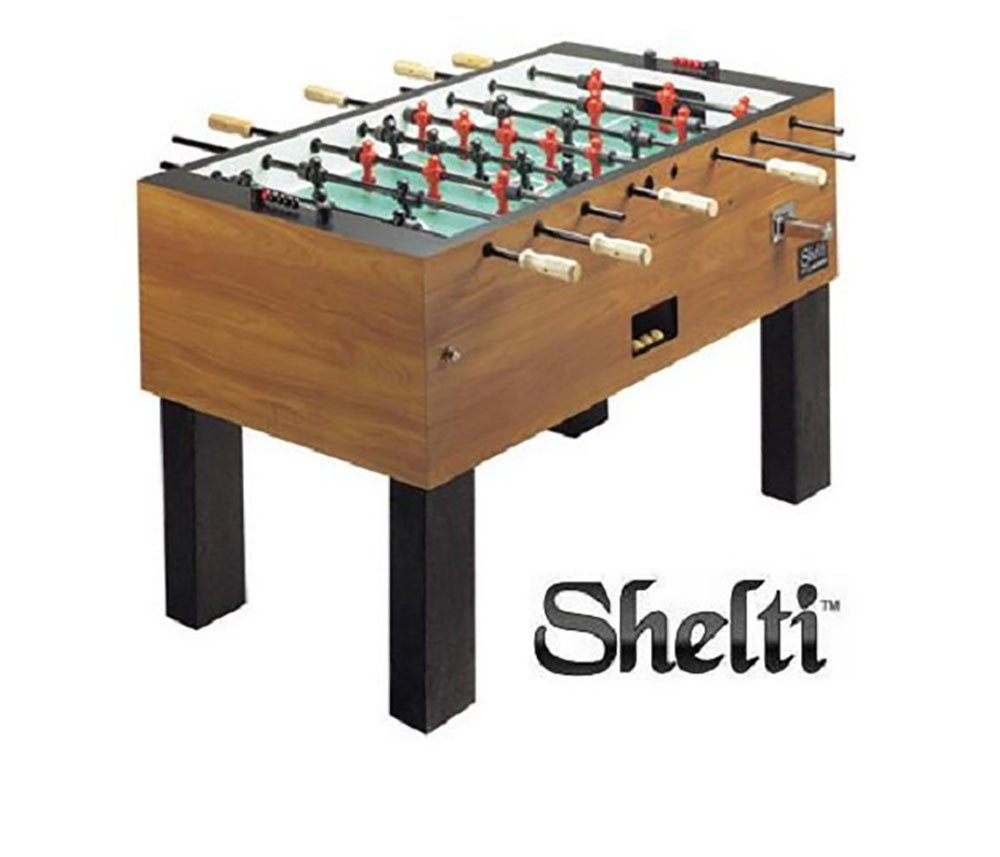 Shelti Pro Foos III Coin-Op Commercial Foosball Table by Shelti