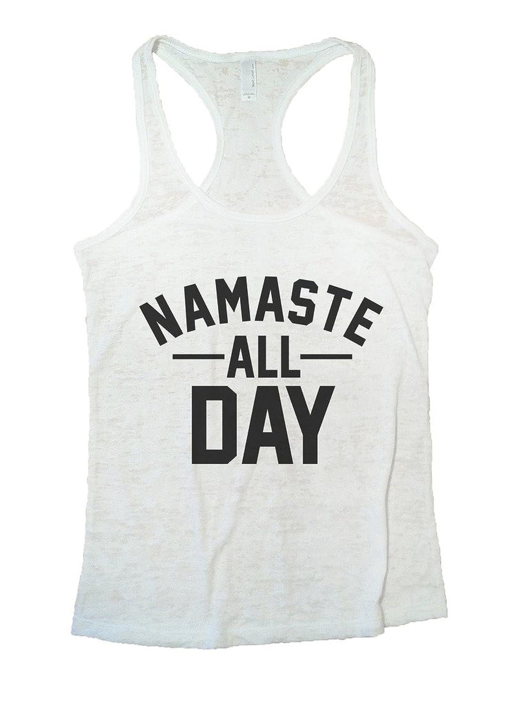 Namaste All Day Funny Burnout Yoga Fitness Tank Top Funny Threadz Funny Threadz