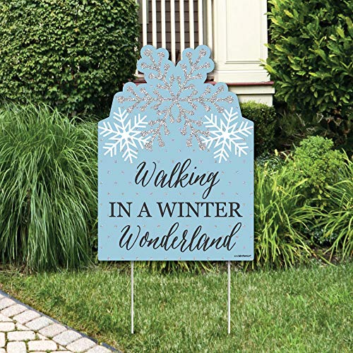 Winter Wonderland Wedding - Big Dot of Happiness Winter Wonderland - Party Decorations - Snowflake Holiday Party & Winter Wedding Welcome Yard Sign
