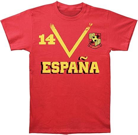 Spain Espana Soccer Team World Cup Camiseta Roja Para Hombre: Amazon.es: Ropa y accesorios