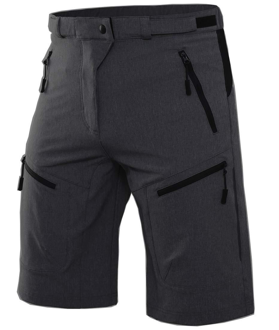 Wespornow Men's-Mountain-Bike-Shorts-MTB-Cycling-Shorts (Dark-Grey, M) by Wespornow