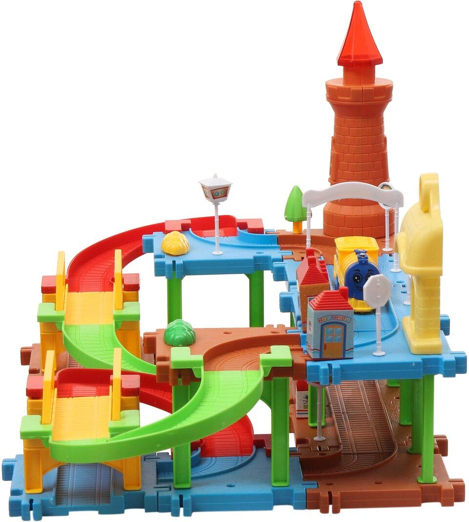 71bc7ce7993 Buy Webby Educational Kids Building Block Train(Multicolour) - Set of 45  Online at Low Prices in India - Amazon.in