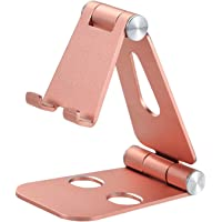 Phone Stand Adjustable Cellphone Holder Foldable Multi-angle Desktop Cradle for Phone Tablet Charging Watch TV (pink)