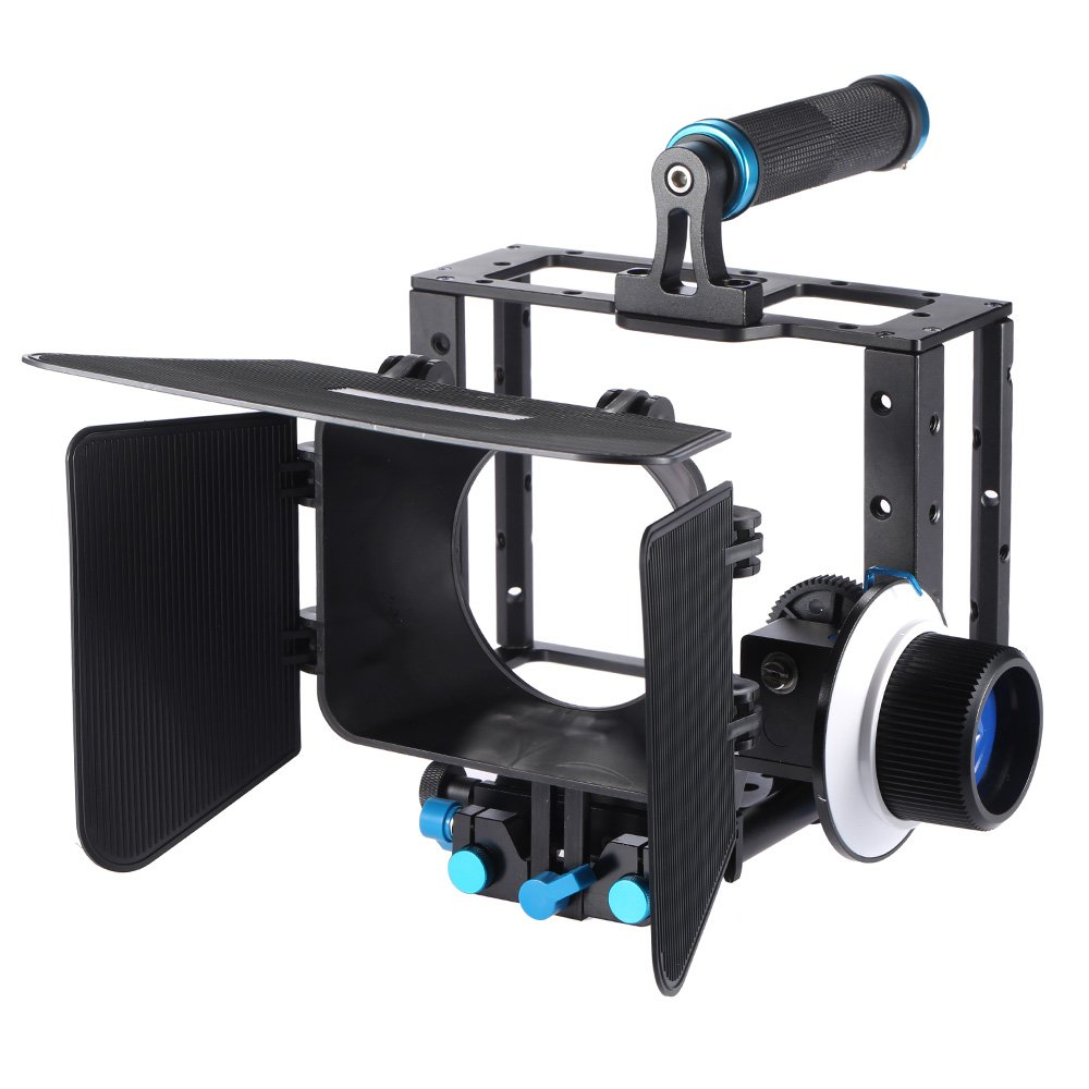 Andoer アルミ合金製 DSLR ビデオフィルム映画を作る 撮影アクセサリー キット カメラケージ & トップハンドル & 15mm ロッド セット & マットボックス & フォローフォーカス カメラビデオカメラ用   B01ET01MO4