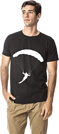 Santhome 180 GSM Mens Skydiving sports cotton round neck tshirt,