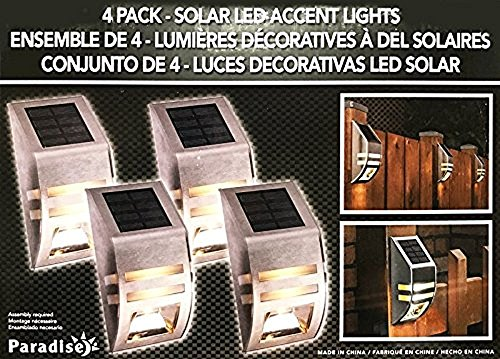 Solar LED Accent Lights - 4 Pack (Lights Accent Deck Solar)