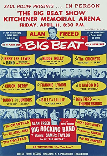 - Affiche Prints RR05 Vintage Buddy Holly Jerry Lee Lewis Rock & Roll Concert Gig Band Advertisement Poster Print - A3 (432 x 305mm) 16.5