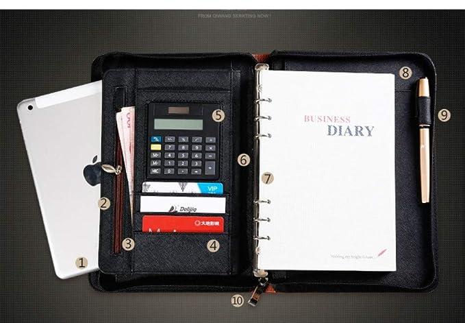 Amazon.com: Qazpl Cuaderno A5 con cremallera en espiral de ...