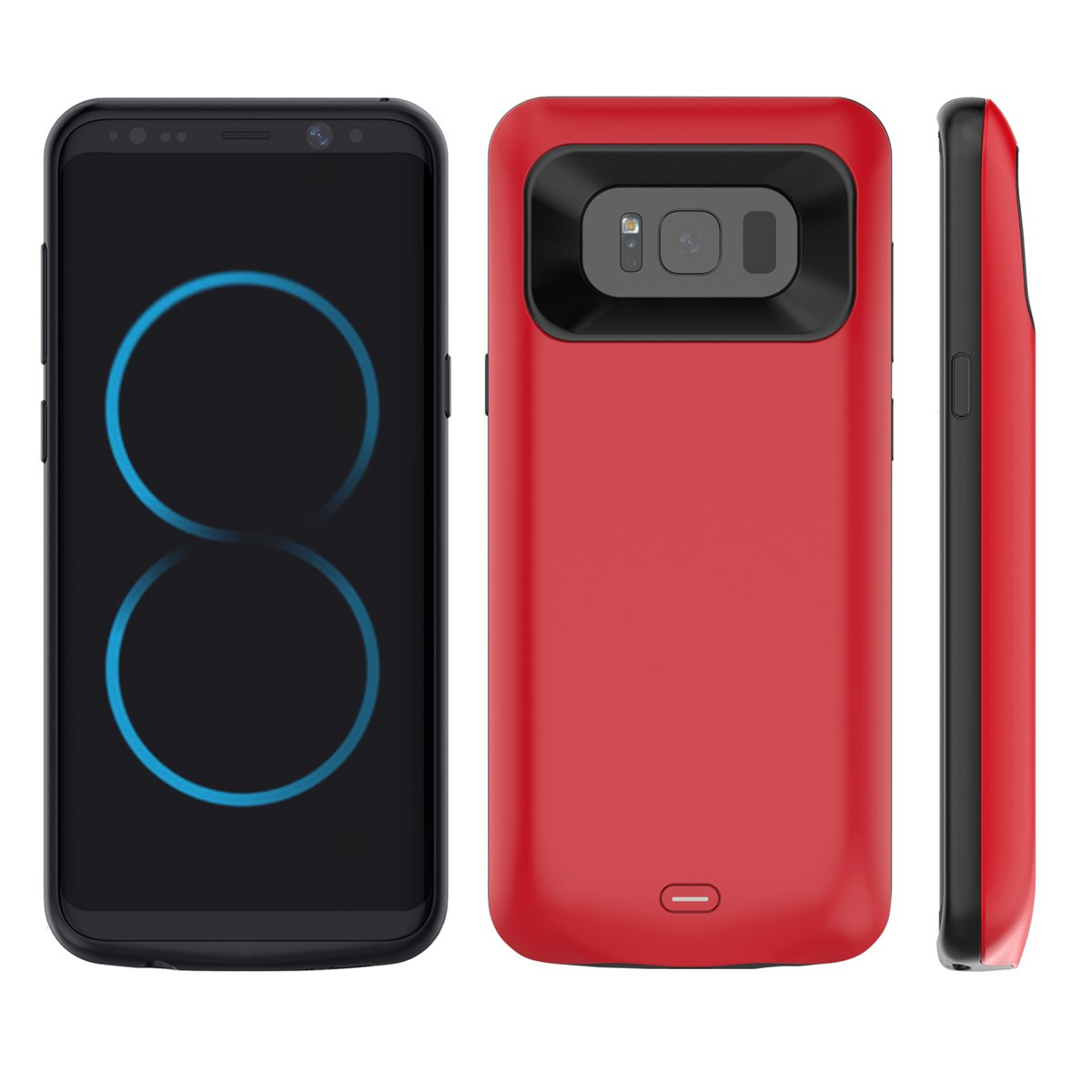 Scheam Samsung Galaxy Note 8 Battery Battery Case- Carry Case Protective Portable Rechargeable Charging Case for Samsung Galaxy Note 8 Battery Bank Power Pack -Red