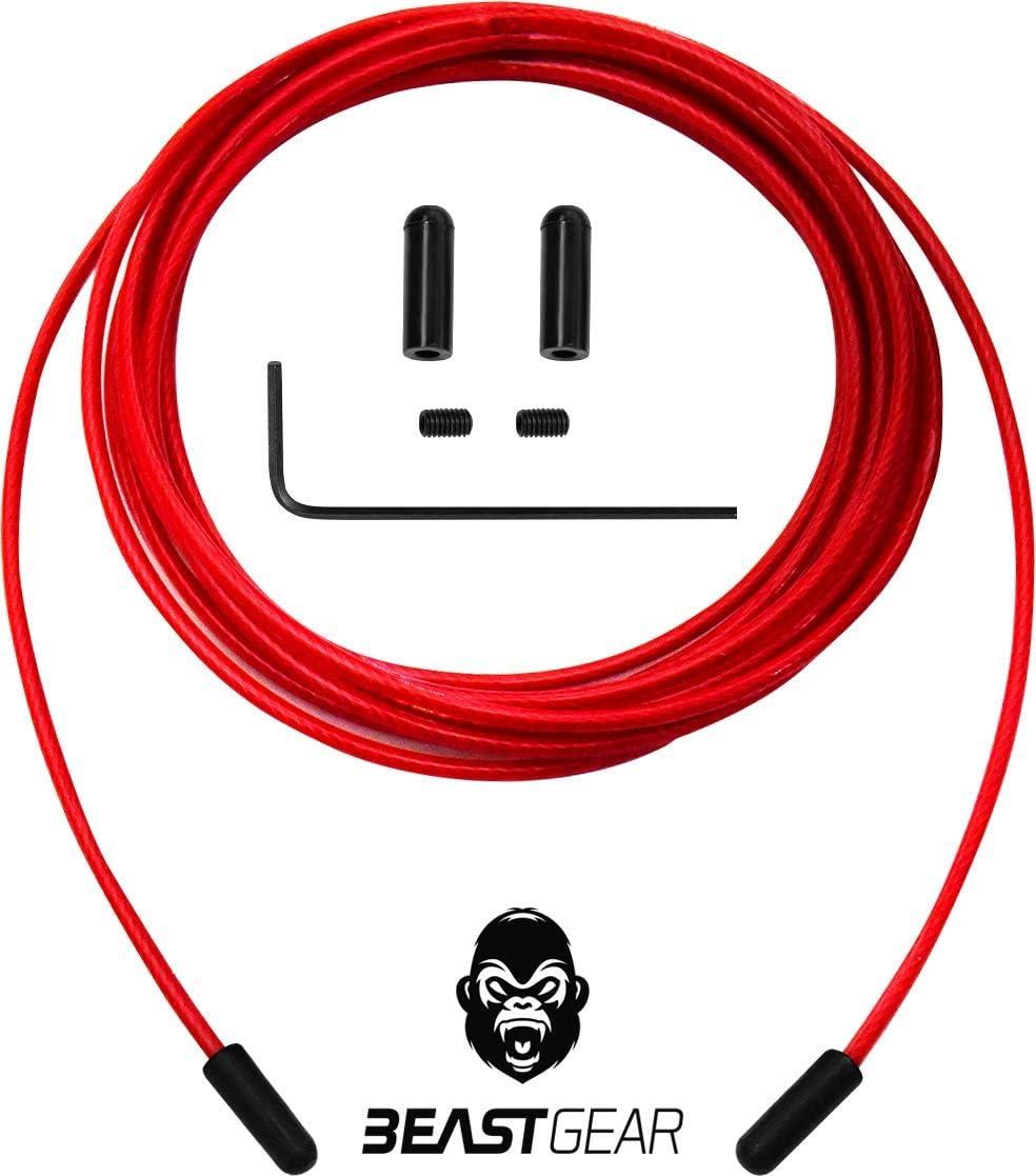 C/âble de remplacement /& pi/èces d/étach/ées pour la Corde /à sauter Beast Rope Pro Beast Gear
