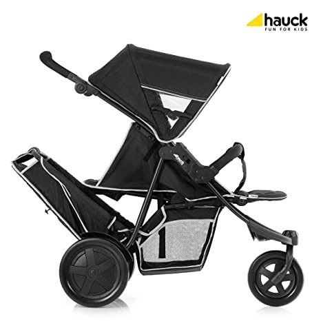 Hauck Freerider 3 ruedas Tandem Cochecito - Negro.: Amazon ...