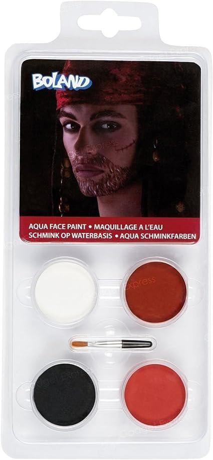 Disfraz de pirata pintura facial Kit de viaje cara pintura fácil ...