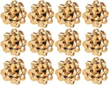 The Gift Wrap Company 4832-09 Decorative Metallic Confetti Bows, Large, Gold: more info