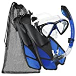 Cressi Adjustable Mask Fin Snorkel Se...