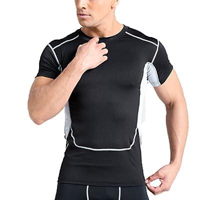 Hellomiko Sweat-Shirt à Manches Courtes Pour Homme