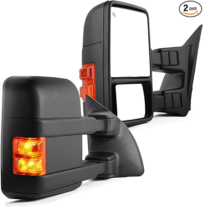 ECCPP Towing Mirrors for 1999 2000 2001 2002 for Ford F250 F350 F450 F550 Super Duty Power Heated Pickup Pair Mirrors