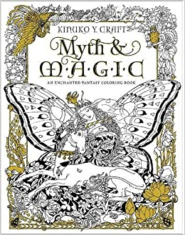 myth magic coloring book an enchanted fantasy coloring book amazoncouk kinuko y craft 9781631362439 books - Magic Coloring Book