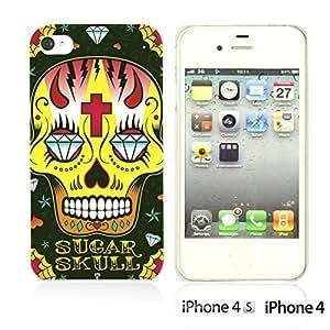 Skull Pattern Hardback For Iphone 5/5S Case CoverBlack Sugar Skull