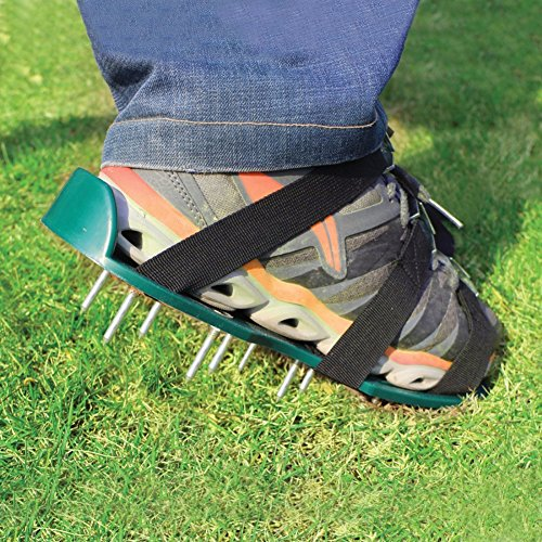 Alotm Lawn Aerator Shoes with Adjustable Zinc Alloy Buckles and 3 Straps, Heavy Duty Spiked Sandals Shoes Garden Tool for Aerating Your Lawn or Yard - One Size Fits All Men and Women by Alotm (Image #7)