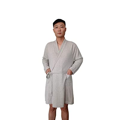 100% Pure Cashmere Robe for Men in a Gift Box (Beige, Large) at Amazon Men's Clothing store