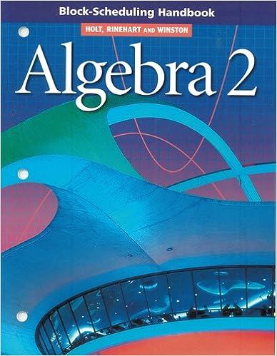 Book Block Scheduling Handbook Algebra 2 2004