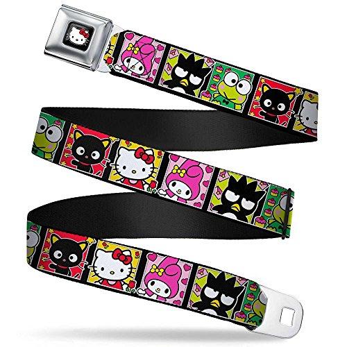 Buckle-Down Seatbelt Belt - Sanrio Character Blocks Hello Kitty/My Melody/Badtz-Maru/Keroppi/Chococat - 1.5