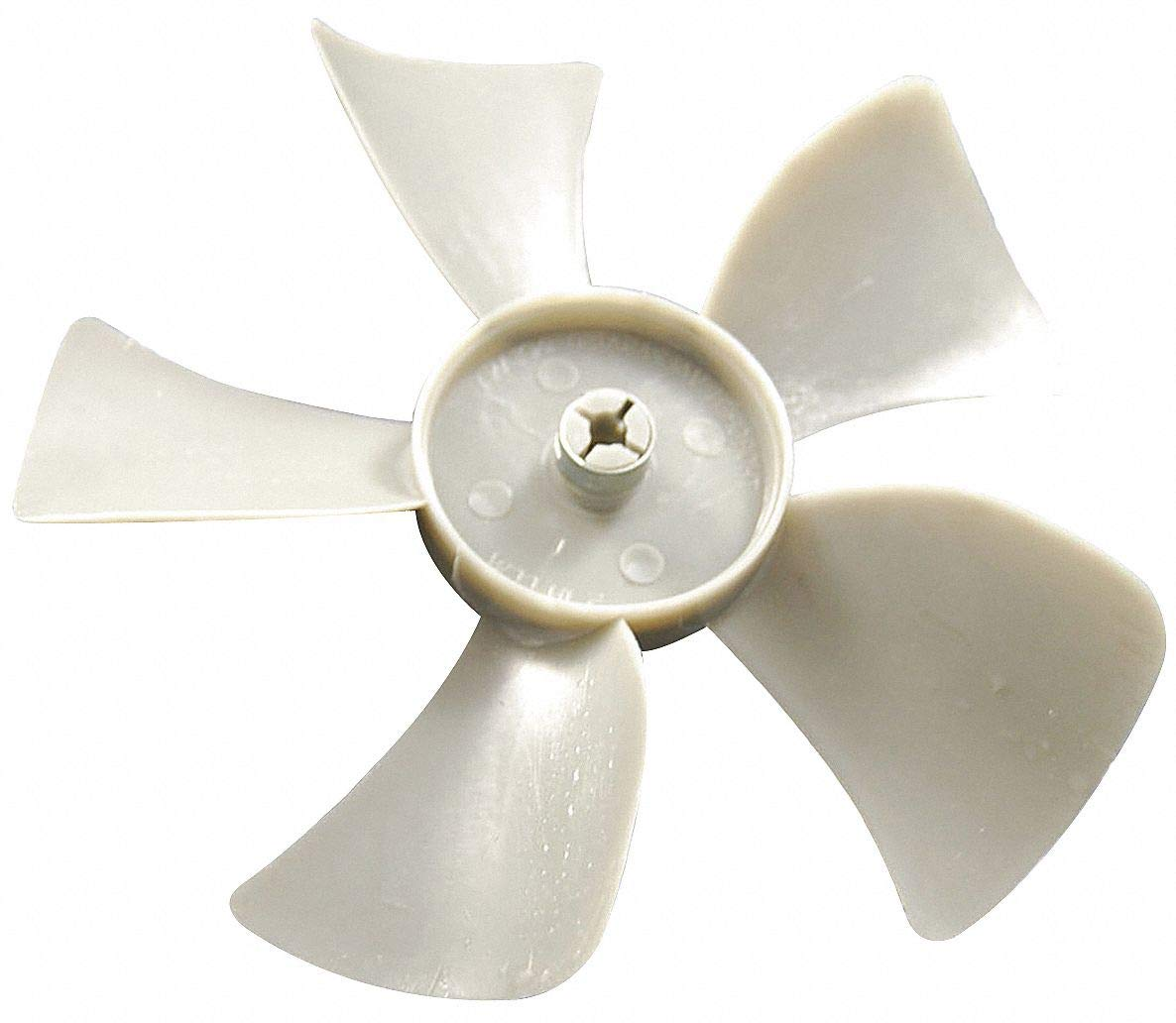 5'' CW Facing Discharge Propeller, White; Number of Blades: 5 by CAI - DAYTON