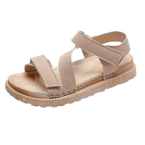 Femme sandales plates en similicuir poisson bouche tamaris talon compensés chaussure cuir fleur marque fermé Mesdames été des pas cher neutres à bout