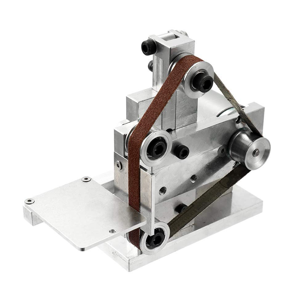 KKmoon Temperamatite Multifunzionale Mini Smerigliatrice a Nastro Elettrico Levigatrice per Affilare i Coltelli per Affilatura