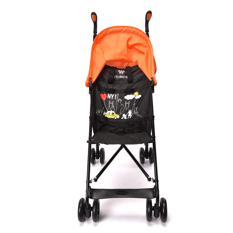 Wonder buggy Lightweight Baby Jumbo Umbrella Stroller with Rounded Hood (Orange) by Wonder buggy (Image #5)