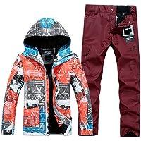 JJZZ Ropa de esquí Chaquetas Y Pantalones Chaqueta