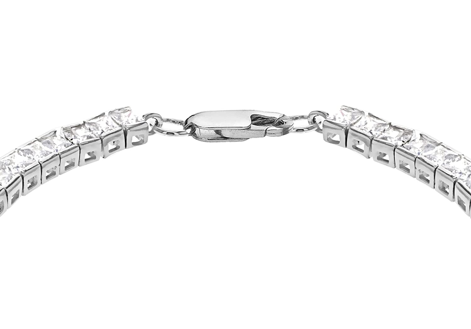 Aoiy Sterling Silver Round Cubic Zirconia Tennis Bracelet for Women and Girls, zhb001bi