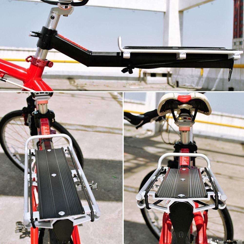 Portapacchi Posteriore Ciclo Regolabile knowledgi Portapacchi per Bagagli a sgancio rapido Alluminio Accessori per Ciclismo con Cordino Elastico//Parafanghi per riflettore