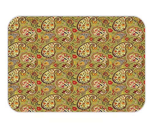 Paprika Paisley (Beshowere Doormat Paisley Decor Eastern and Persian Oriental Style Tulip Floral Textile Pattern Fabric Bathroom Set with Hook Long Green Red Cream and Paprika.jpg)