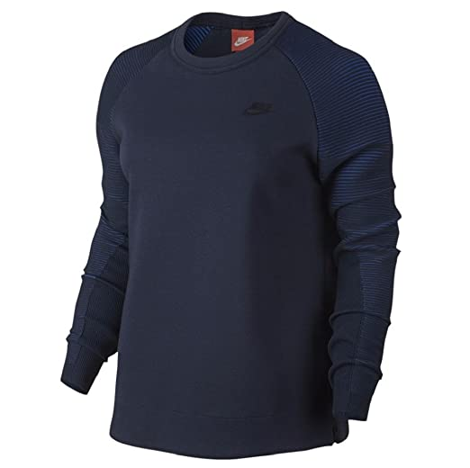 cfb6a9338 Nike Women's Tech Fleece Crew Sweatshirt Obsidian/Black at Amazon ...