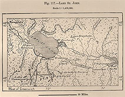 Amazon Com Lake St John Lac Saint Jean Quebec Canada 1885