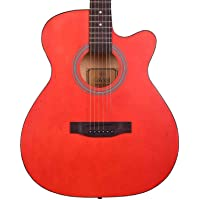 Cavani 40 inch Acoustic Guitar with rosewood fretboard Acoustic Guitar CA01 Red