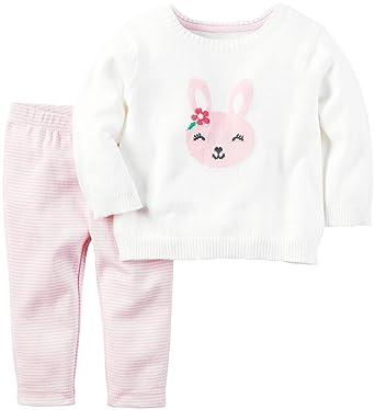 Carters Baby Girls Sweater Sets 121h209 White Newborn Baby
