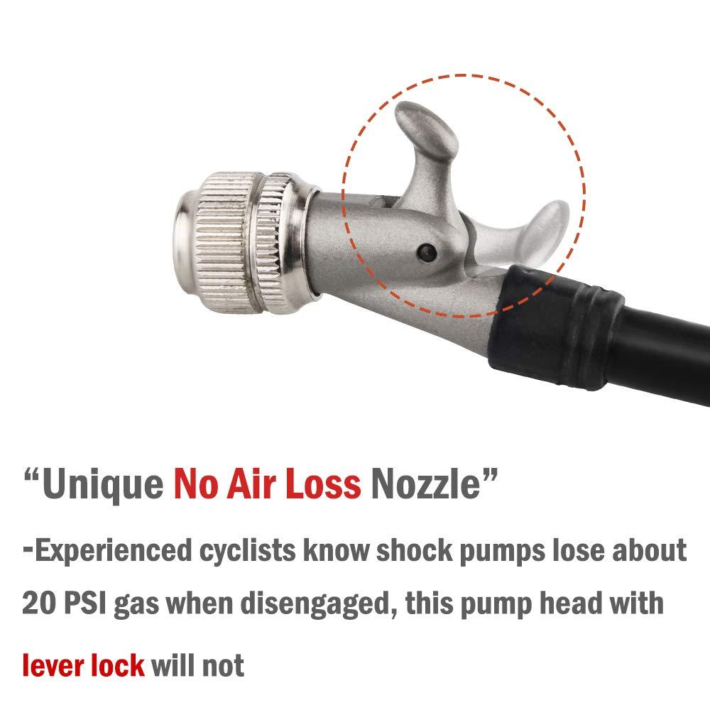 MTB Motorcycle Shock Pump 300 PSI for Fork /& Rear Suspension Larger Size Version