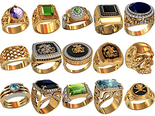 #m24__ Set of 15 pcs ring wax patterns for lost wax casting (Ring Casting Set)