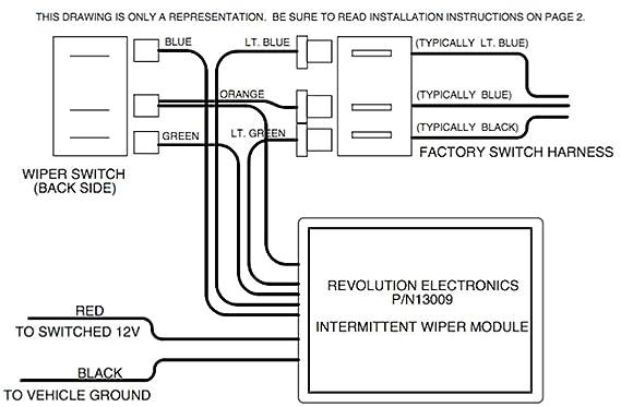 amazon com revolution electronics intermittent wiper module for rh amazon com